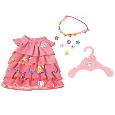 Одежда для куклы Zapf Creation Baby born Платье с аксессуаром (ободок-украшение)