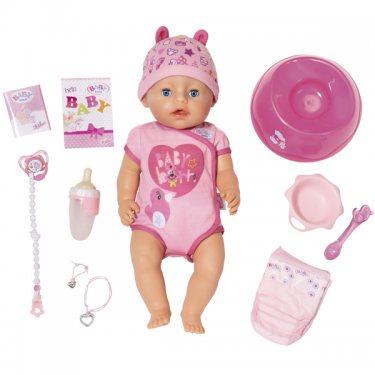 Бэби Борн Кукла Интерактивная 43 см в розовом, с аксессуарами