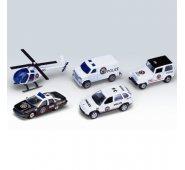 """Машинка Welly 97506A Велли Игровой набор """"Полицейская команда"""" 5 шт."""