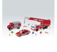 """Машинка Welly 99610-10B Велли Игровой набор машин """"Пожарная служба"""" 10 шт."""