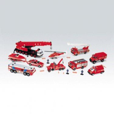 """Машинка Welly 99610-20B Велли Игровой набор машин """"Пожарная служба"""" 20 шт."""