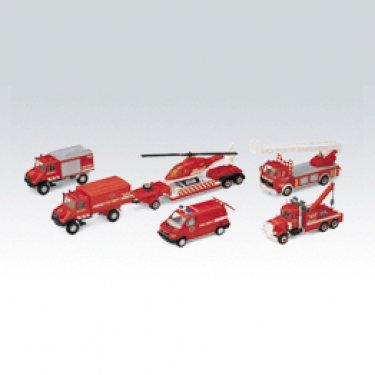 """Машинка Welly 99610-6B Велли Игровой набор машин """"Пожарная служба"""" 6 шт."""