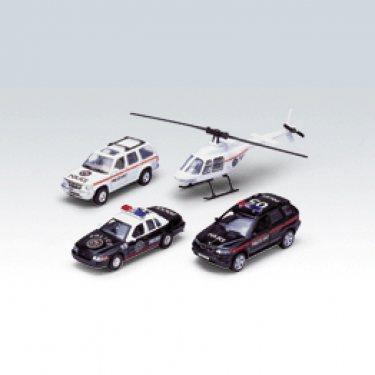 """Машинка Welly 98160-4A Велли Игровой набор машин """"Полиция"""" 4 шт."""