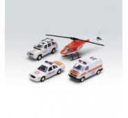 """Машинка Welly 98160-4D Велли Игровой набор машин """"Скорая помощь"""" 4 шт."""