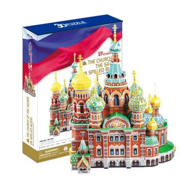 3D пазлы Cubic Fun Кубик фан Собор Воскресения Христова (Россия) 233 детали