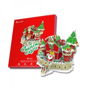 3D пазлы Cubic Fun Кубик фан Сказочный рождественский замок (с подсветкой) 84 детали
