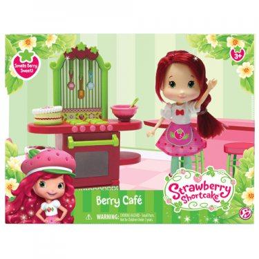 Кукла Strawberry Shortcake 12240 Шарлотта Земляничка Кукла 15 см и кафе/салон, 2 в асс-те