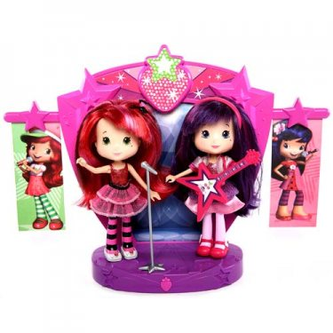 Кукла Strawberry Shortcake 12245 Шарлотта Земляничка Две куклы 15 см на сцене